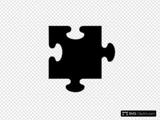 Black Border Puzzle Piece