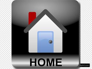 Square Home Text Black
