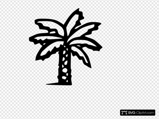 Palm Tree SVG Clipart