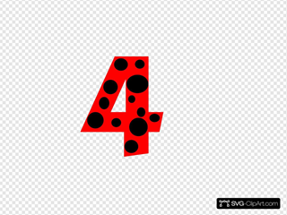 Number 4 Dots