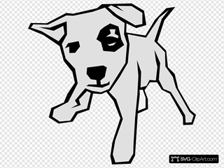 Dog 03 Drawn With Straight Lines