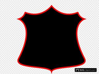 A Plain Shield Clipart