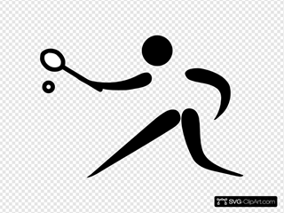 Olympic Sports Racquets Pictogram