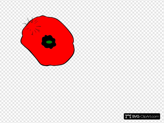 Remembrance Day Poppy With Green For Hope SVG Clipart