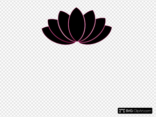 Black/fuschia Lotus Clipart
