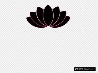 Black/fuschia Lotus Clipart