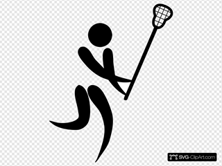 Olympic Sports Lacrosse Pictogram