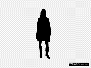 Woman Lady Silhouette Walking