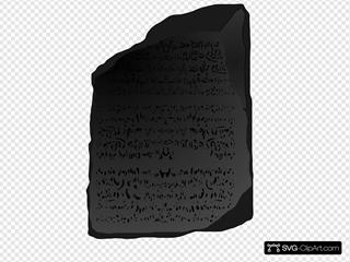 Black Scribed Stone