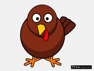 Turkey Round Cartoon SVG Clipart