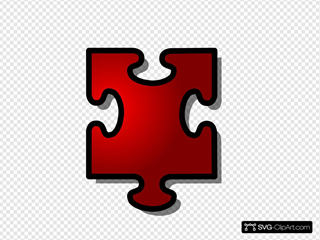 Red Jigsaw Piece