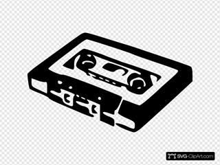 Audio Cassette SVG Clipart