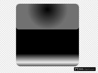 Mi Brami Square Black Crystal Button