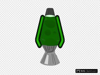 Lava Lamp Glowing Green