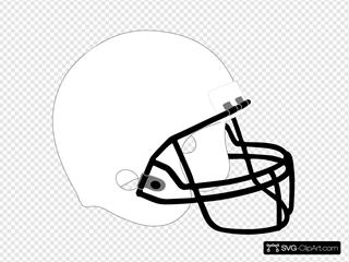 Football Helmet White Black