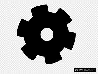 Gear - Black Clipart