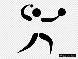 Olympic Sports Softball Pictogram