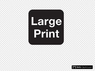 Large Print Black