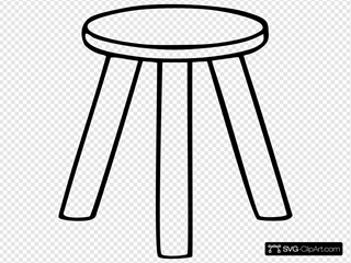Three Legged Stool Outline