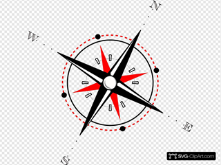 Red Black Compass