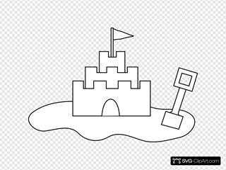 Sand Castle Outline