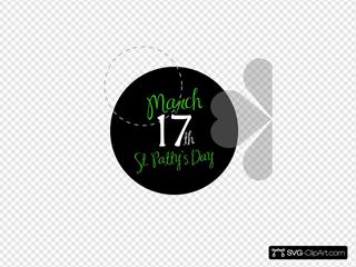 St Patricks Day Button Black