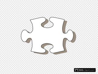 Jigsaw White Puzzle Piece