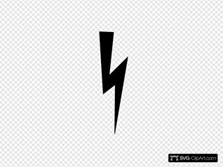 Black Lightning Bolt SVG Clipart