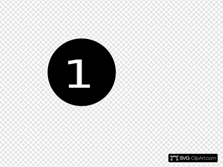Number One SVG Clipart