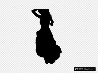 Black Sillhouette Of A Woman