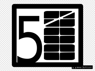 5 Levels Stacked Pictograms