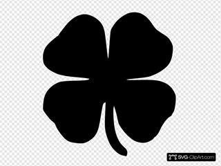 Four Leaf Clover Black