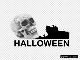 Skull In Graveyard
