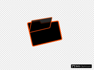 Orange And Black Folder