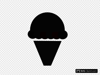Black And White Cupcake SVG Clipart