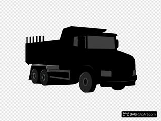 Black Gray Dump Truck 3