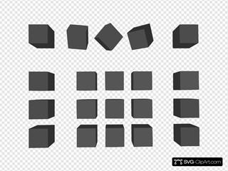 Dogface Jim Simple Grey Cubes