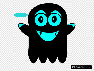 Blue And Black Ghost