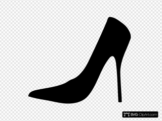 High Heel Silhouette With Cream Background