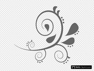 Paisley Curves SVG Clipart