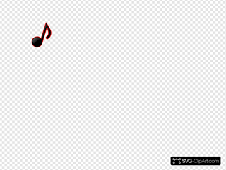 Black/red Music Note