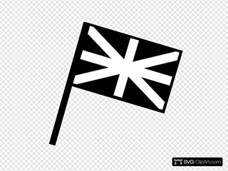 Black And White Flag Of Great Britain