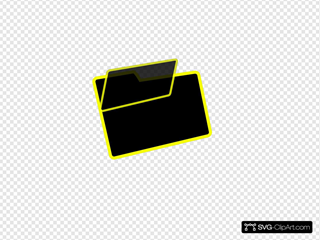 Black And Yellow Folder