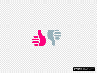 Thumbs Up Thumbs Down Pink And Black