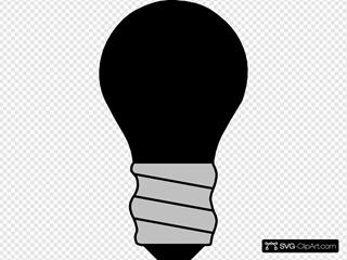 Light Bulb Off Black