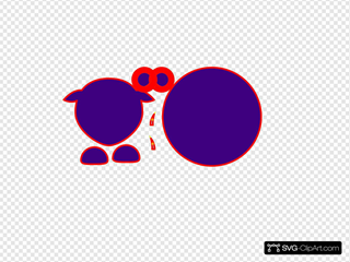 Sheep Body Parts Black Outline Purple Body Linear