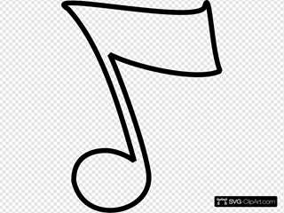Musical Note - B And W