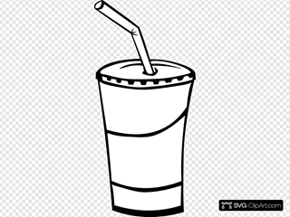 Soft Drink In A Cup (b And W)