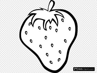 Outline Strawberry