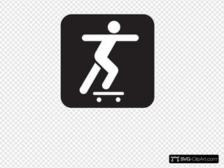 Skate Boarding Black